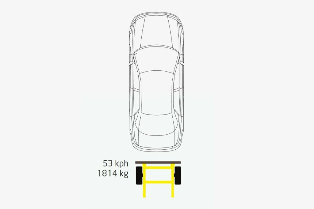 Mobile barrier - EURO- FMVSS 208 drawing