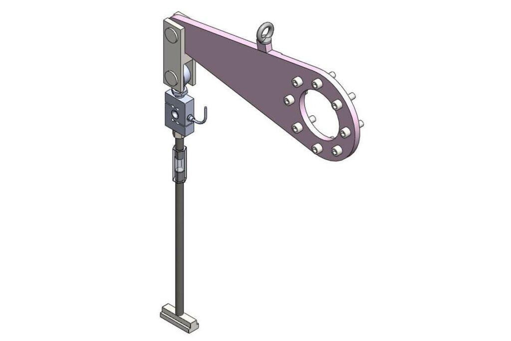 Calibration lever for HBM torque force transducer
