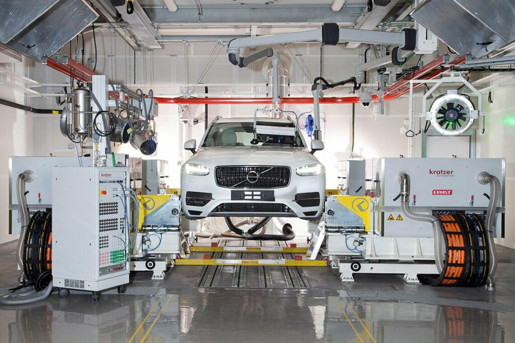 Vehicle test bed Volvo Cars