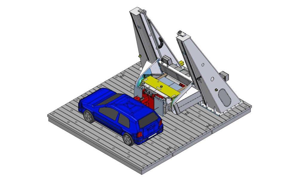 Kombinierte Drückanlage - Zeichnung